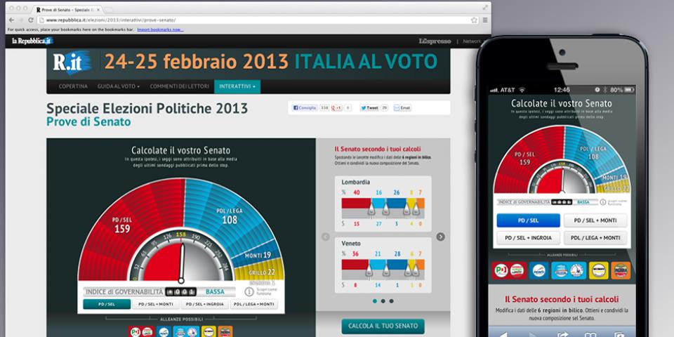 Repubblica - Infografica Elezioni 2013