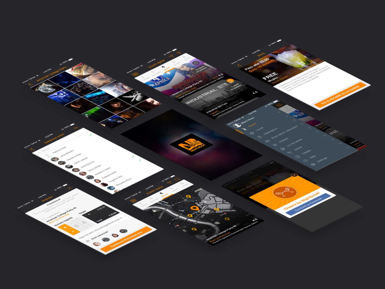 nightbook-app-screens